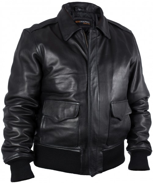 Veste de cuir professionelle SDG-PROTECT avec protection au niveau Level-5