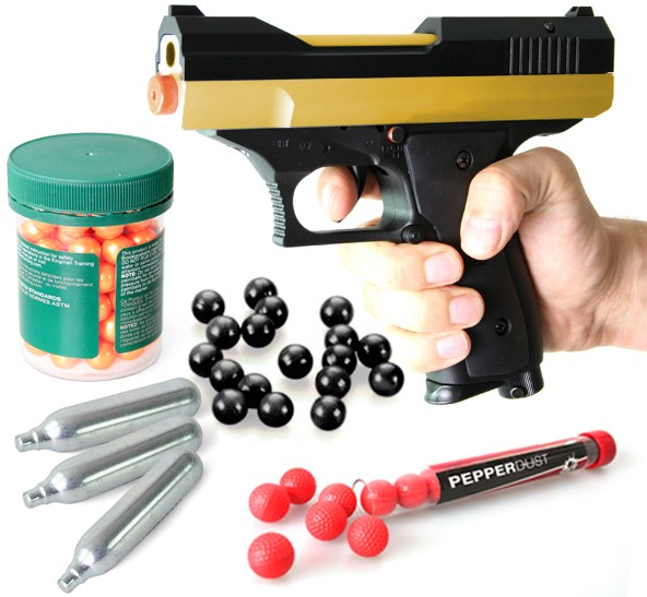 "Home Defense Set ""Chaser"" - cal .43 inkl. Pepperballs & 2 Ersatzmagazinen"
