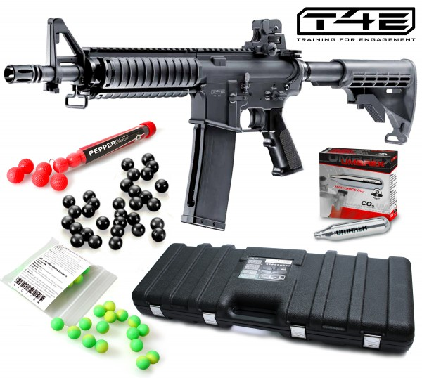 "Home Defense Set ""Military M4 RIS"" - cal .43 mit PepperDust Kugeln"