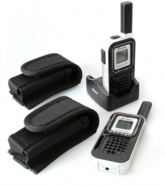 """Security"" radio handheld set with Li-Ion technology incl. suitable holster"