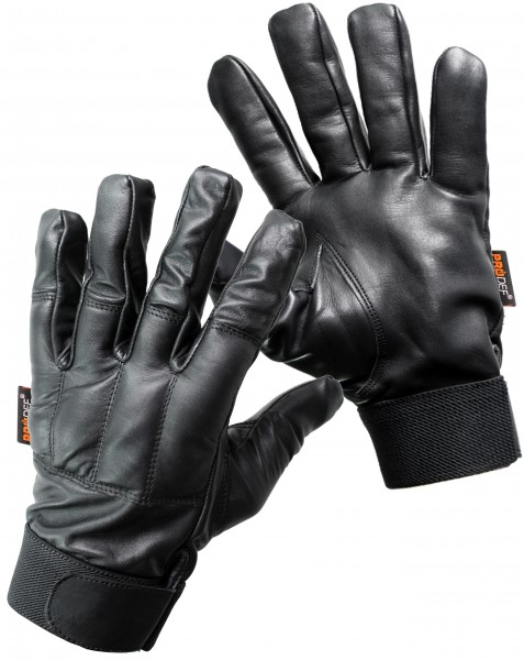 PRODEF® Gloves with glass sand filling Level-5 cut-protection, leather