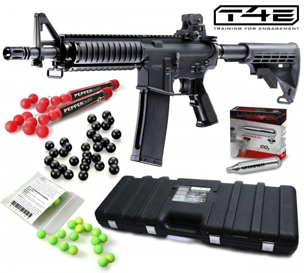 """Home Defense Set """"Military Set M4 RIS"""" - cal .43 with PepperDust balls"""