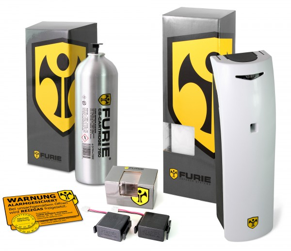 "Alarm system ""Furie X-750"" Incl. teargas cartridge and batterypack"