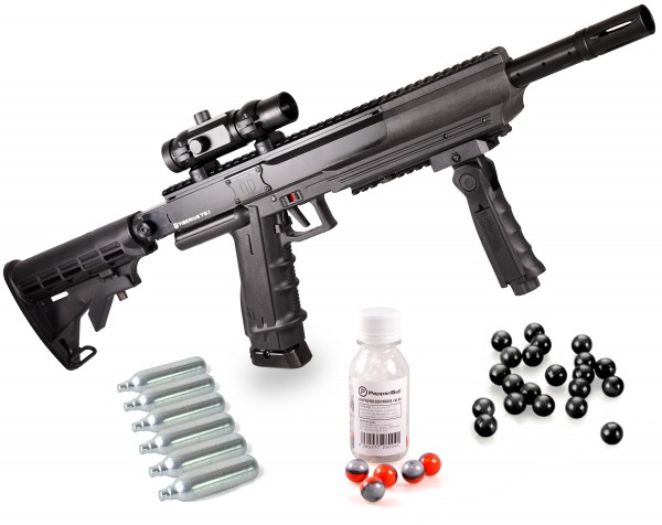 "Home Defense Set ""Police Advanced"" - cal .68 avec PepperBalls LIVE-X"
