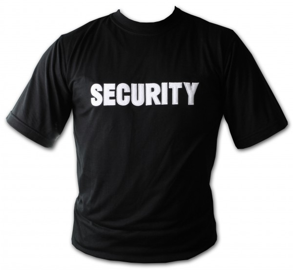 "T-Shirt mit ""SECURITY"" Bestickung"