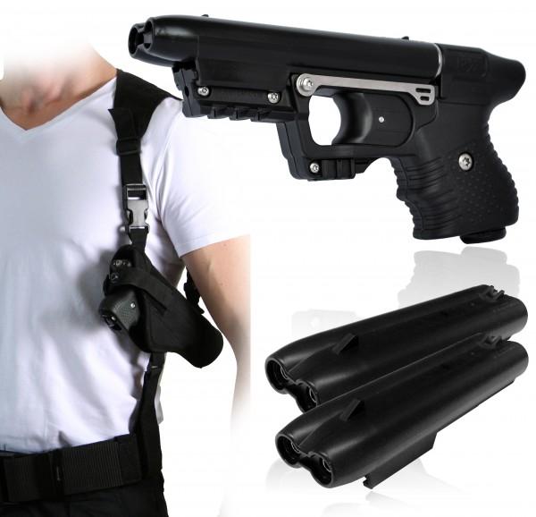 JPX - Jet Protector Set inkl. 2 Kartuschen und Schulterholster mit Kartuschenhalter