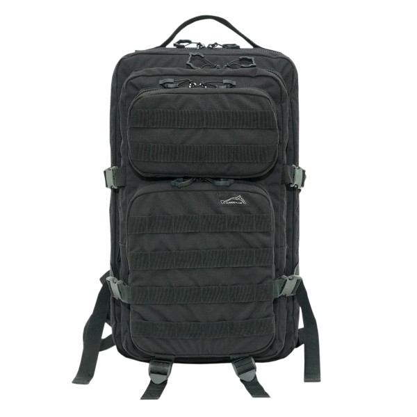 Tactical backpack with PALS, black