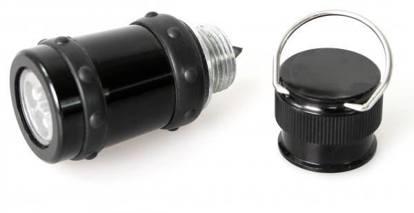 Flashlight for expandable baton