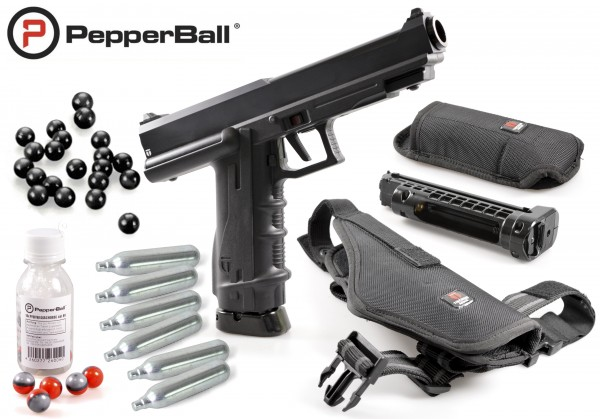"Home Defense Set ""Police"" - cal .68 mit PepperBalls LIVE-X"