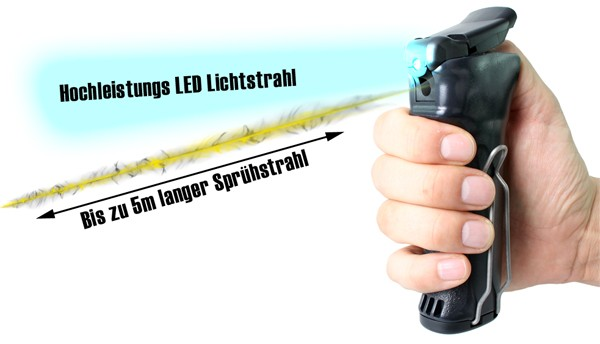"Spray device ""Pepper-Jet PRO"" with LED - Jet, 30 ml"
