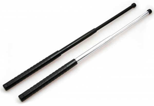"Expandable baton 21"" hardened, ultra slim design, incl. belt clip"